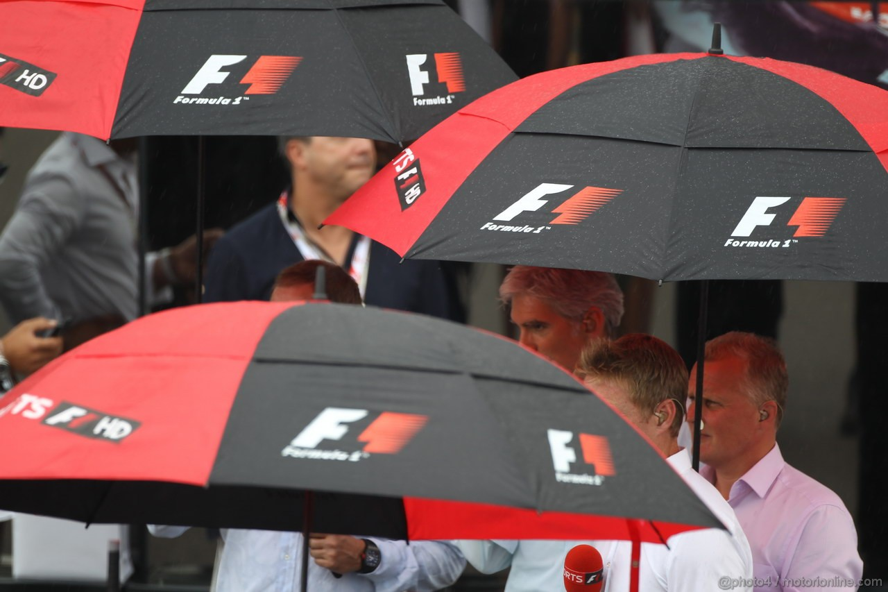 GP ITALIA, 08.09.2013- The Rain before the race