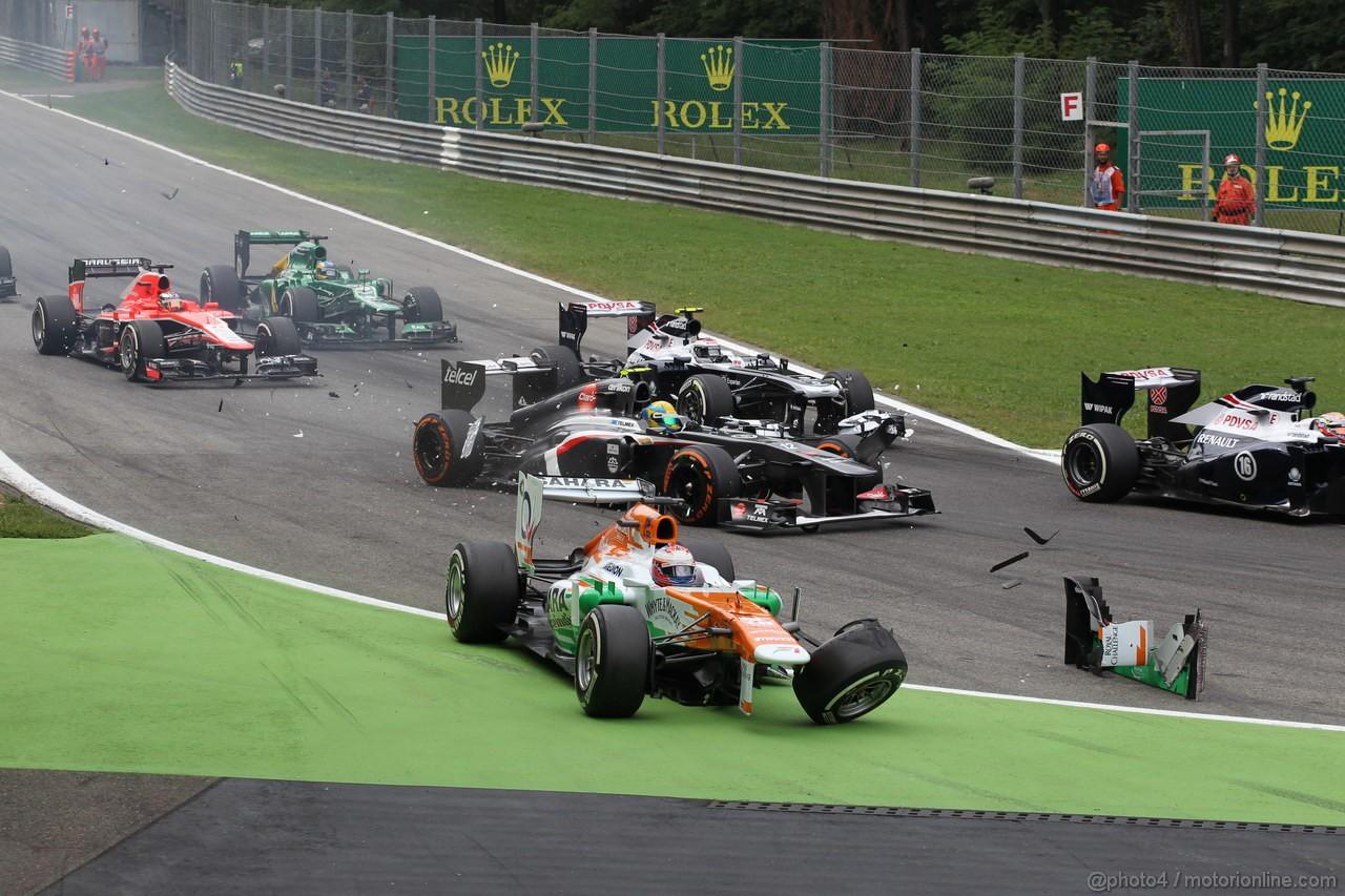 GP ITALIA, 08.09.2013- Gara, Paul di Resta (GBR) Sahara Force India F1 Team VJM06