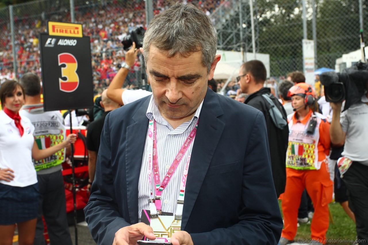 GP ITALIA, 08.09.2013- Actor Rowan Atkinson (Mr. Bean)