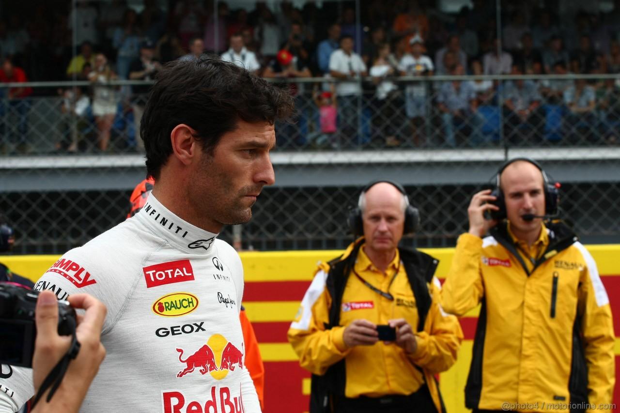 GP ITALIA, 08.09.2013- Gara, Mark Webber (AUS) Red Bull Racing RB9