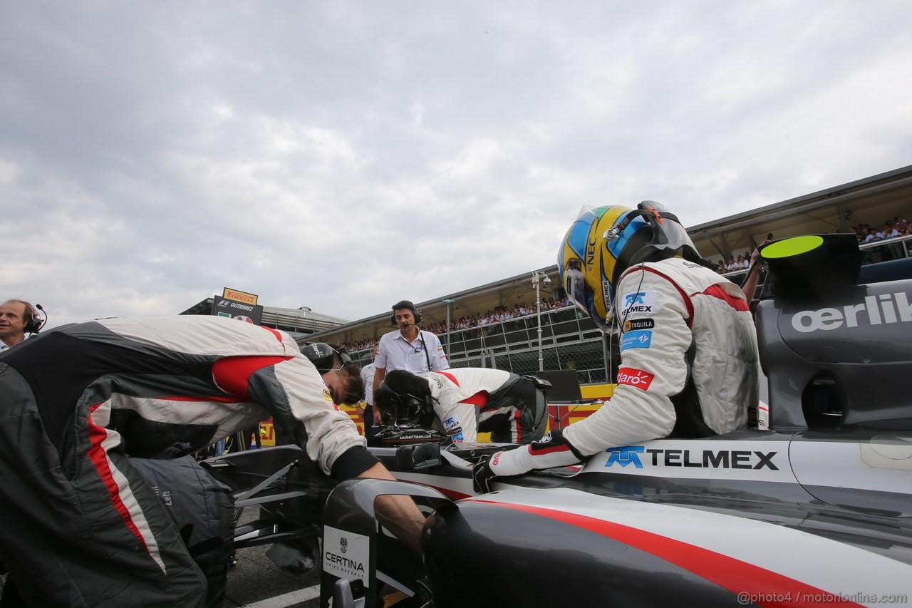 GP ITALIA, 08.09.2013- Gara, Esteban Gutierrez (MEX), Sauber F1 Team C32