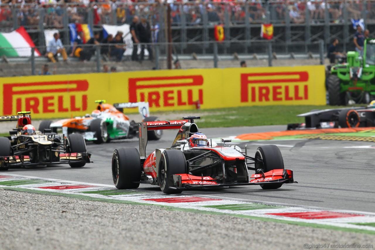 GP ITALIA, 08.09.2013- Gara, Jenson Button (GBR) McLaren Mercedes MP4-28