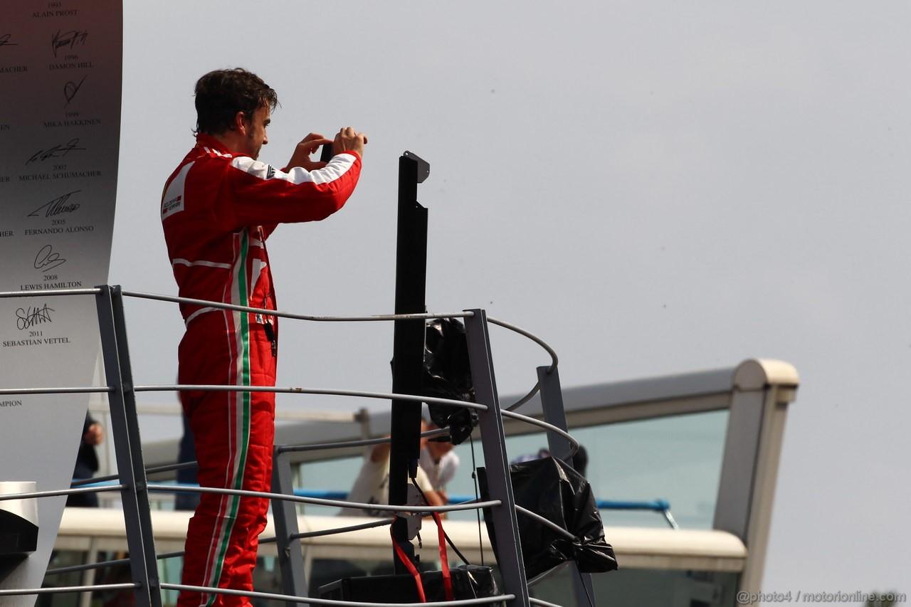 GP ITALIA, Podium: Fernando Alonso (ESP) Ferrari F138 (secondo)