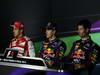 GP ITALIA, Conferenza Stampa: Sebastian Vettel (GER) Red Bull Racing RB9 (vincitore), Fernando Alonso (ESP) Ferrari F138 (secondo) e Mark Webber (AUS) Red Bull Racing RB9 (terzo)