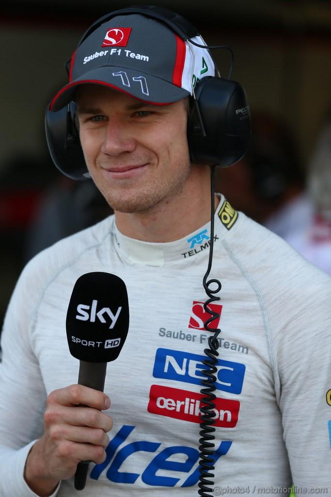 GP ITALIA, 06.09.2013- Prove Libere 1, Nico Hulkenberg (GER) Sauber F1 Team C32