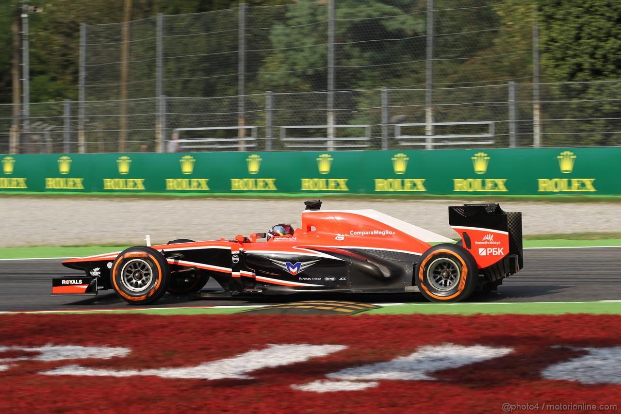 GP ITALIA, 06.09.2013- Prove Libere 1, Rodolfo Gonzalez (VEN) Marussia F1 Team MR02 3rd driver