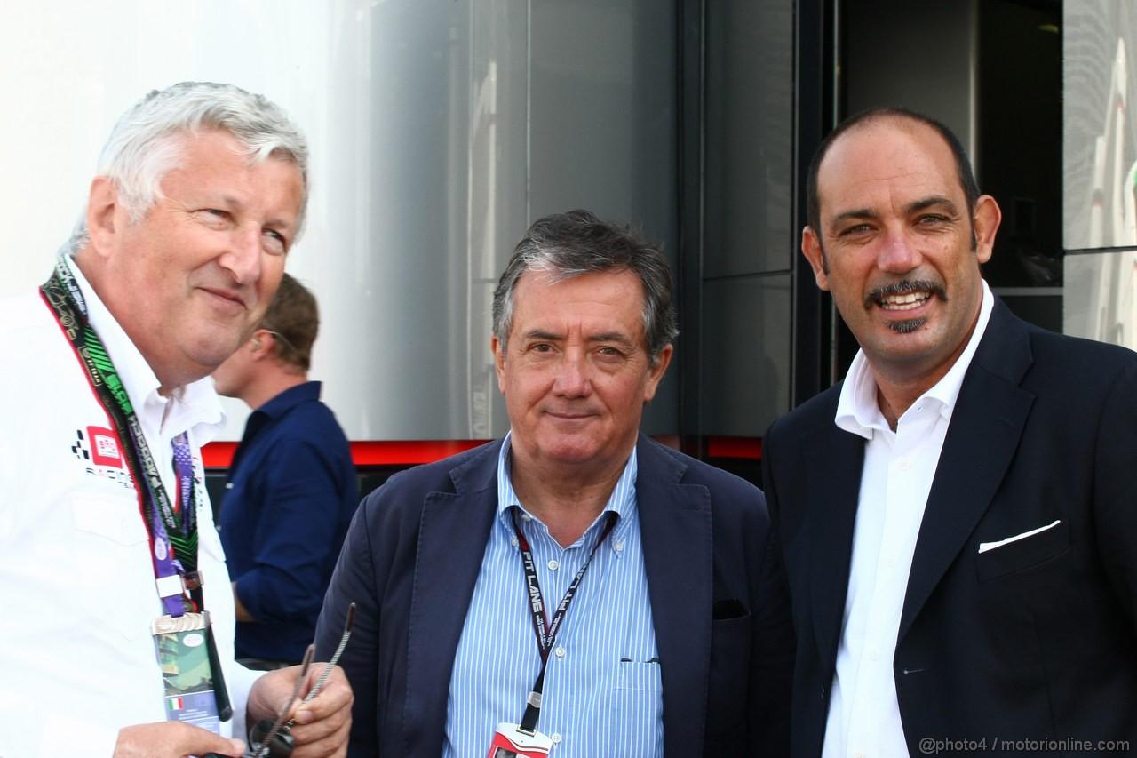 GP ITALIA, 06.09.2013- Giancarlo Minardi (ITA) with Marco Ferrari (ITA) ACI SPORT