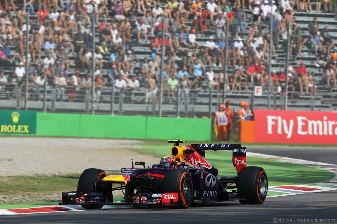 GP ITALIA, 06.09.2013- Prove Libere 1, Mark Webber (AUS) Red Bull Racing RB9