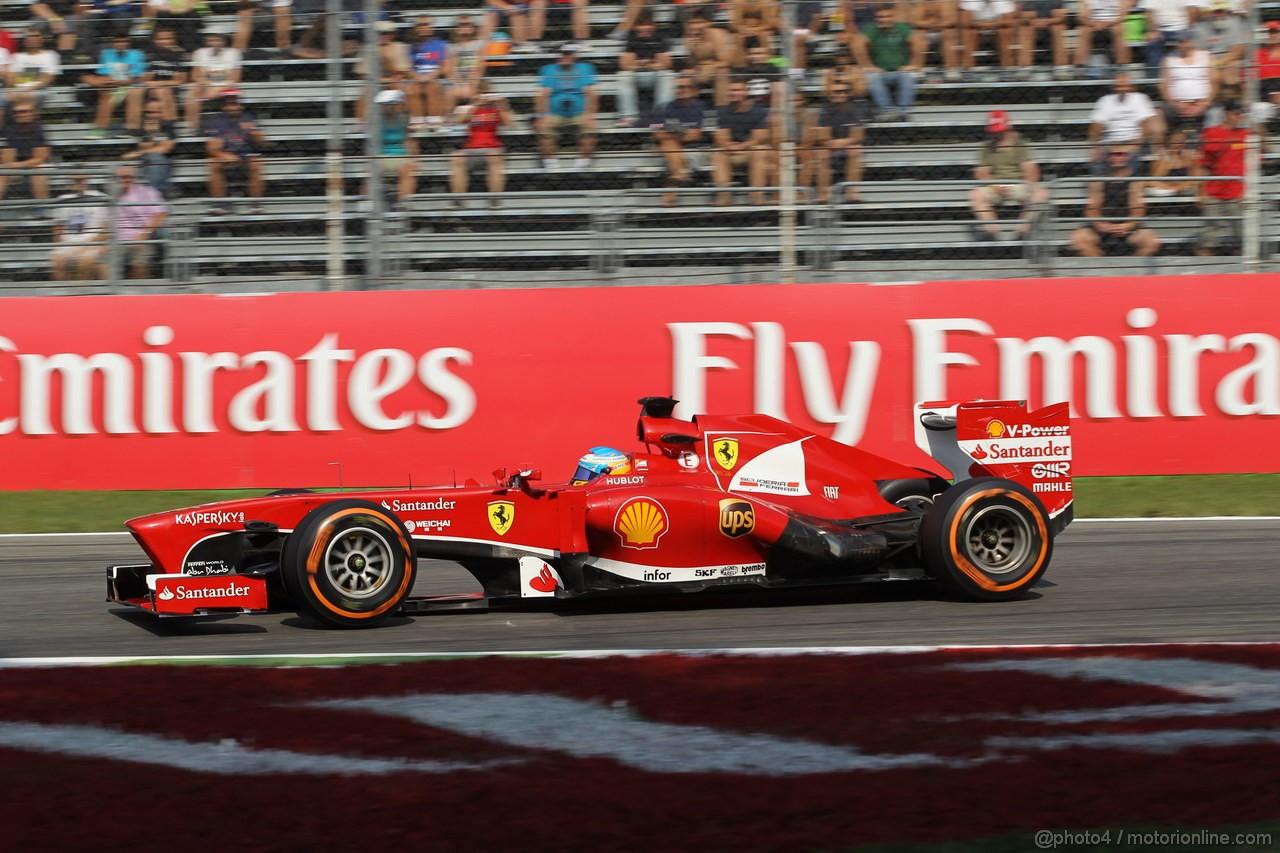 GP ITALIA, 06.09.2013- Prove Libere 1, Fernando Alonso (ESP) Ferrari F138