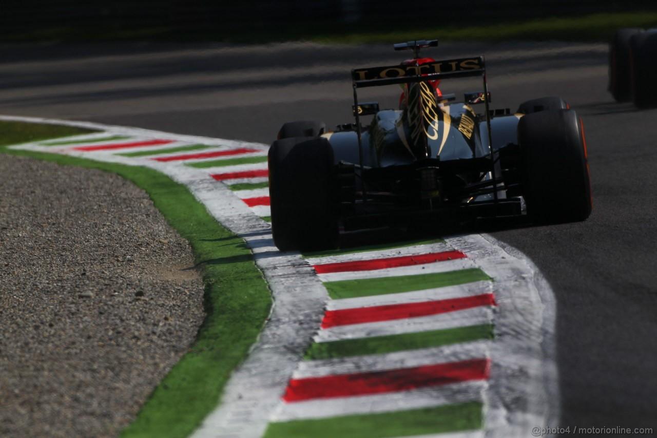 GP ITALIA, 06.09.2013- Prove Libere 1, Kimi Raikkonen (FIN) Lotus F1 Team E21