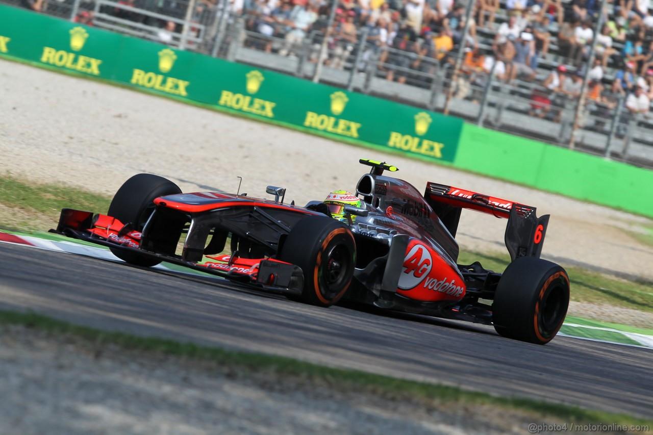 GP ITALIA, 06.09.2013- Prove Libere 1, Sergio Perez (MEX) McLaren MP4-28