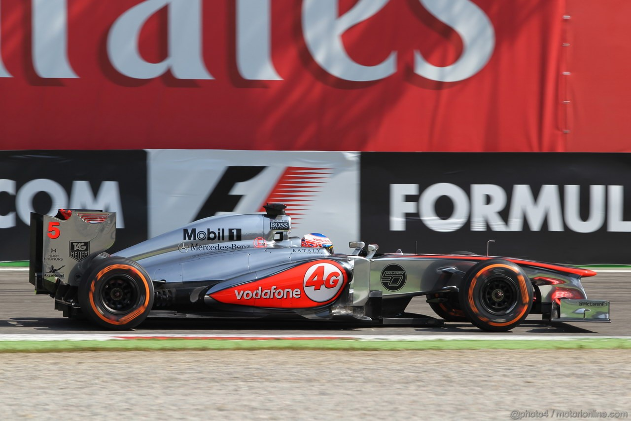GP ITALIA, 06.09.2013- Free practice 2, Jenson Button (GBR) McLaren Mercedes MP4-28