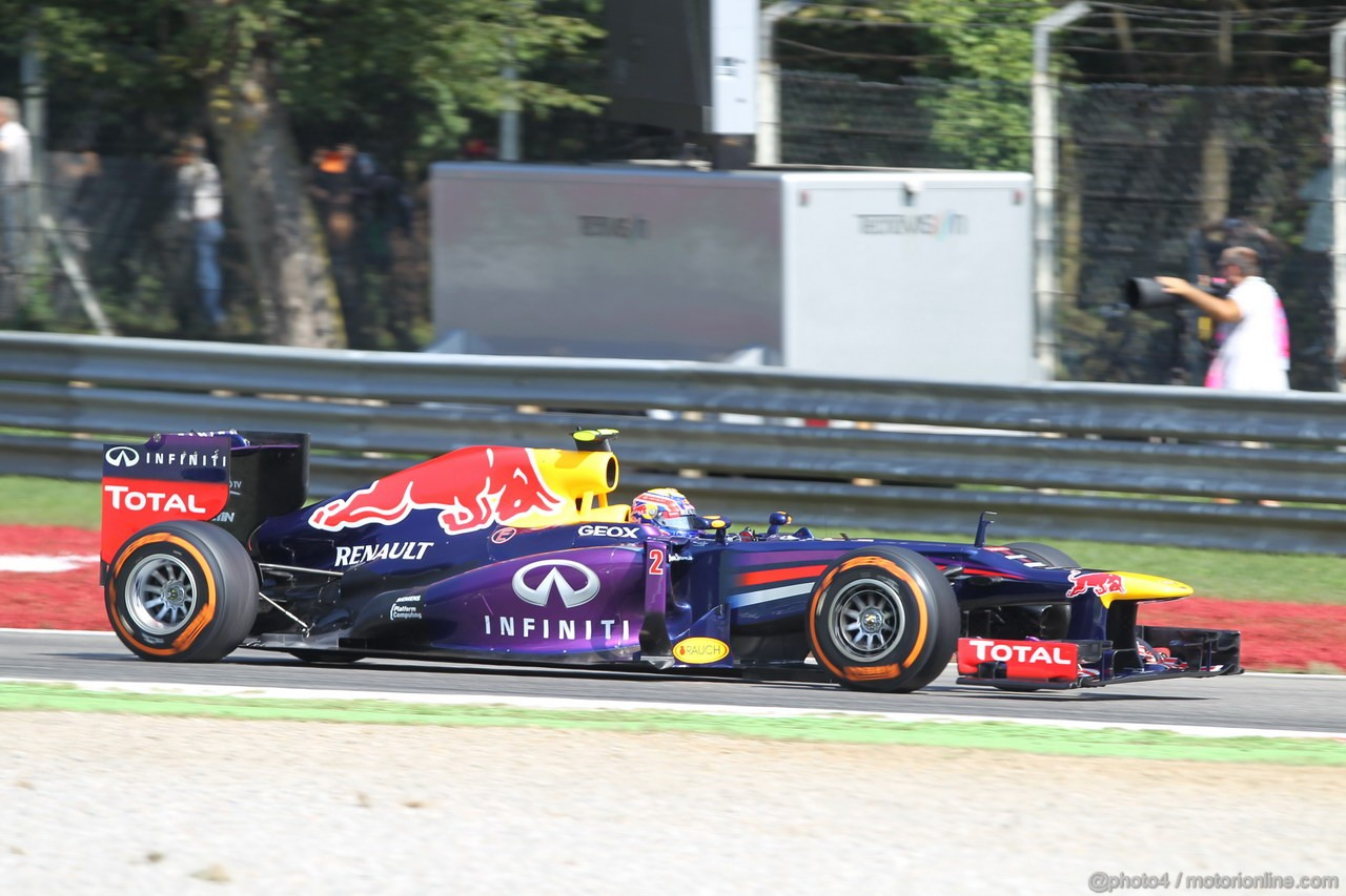 GP ITALIA, 06.09.2013- Free practice 2, Mark Webber (AUS) Red Bull Racing RB9