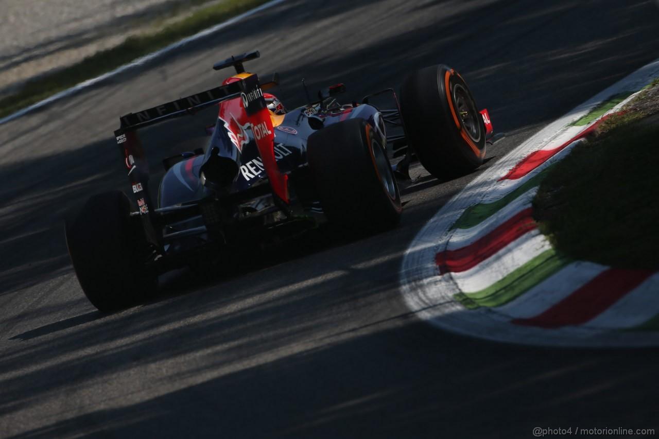 GP ITALIA, 06.09.2013- Free practice 2, Sebastian Vettel (GER) Red Bull Racing RB9