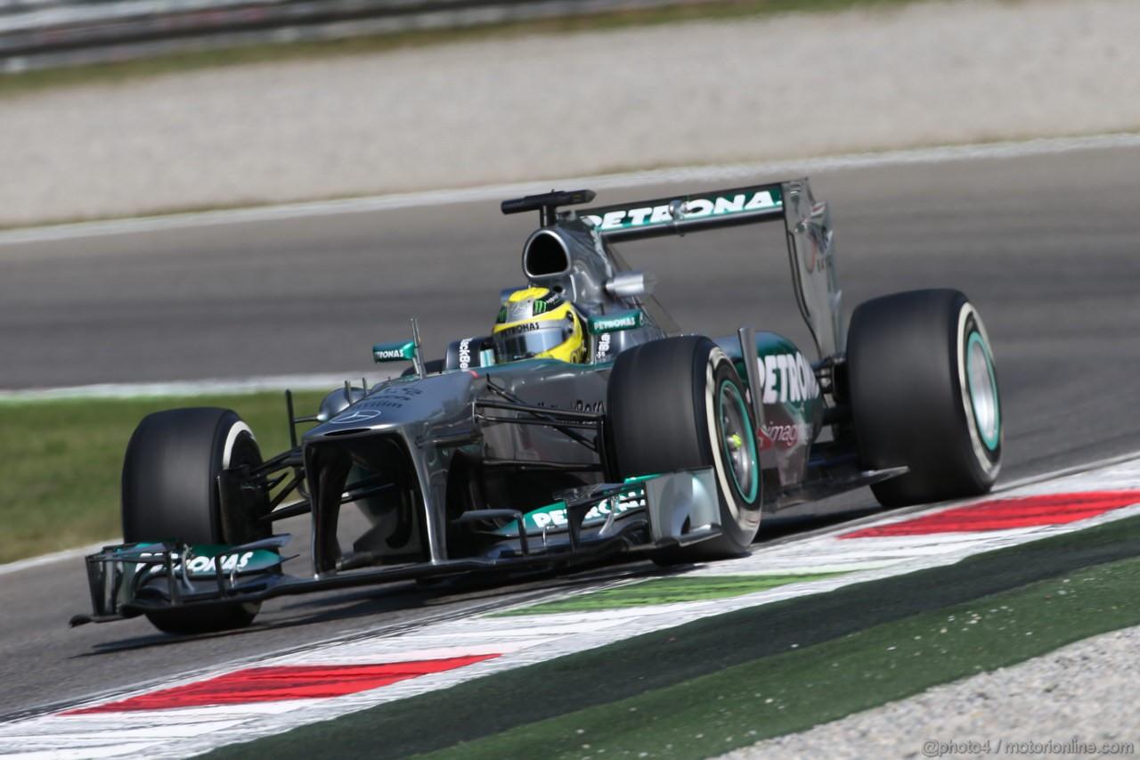 GP ITALIA, 06.09.2013- Free practice 2, Nico Rosberg (GER) Mercedes AMG F1 W04