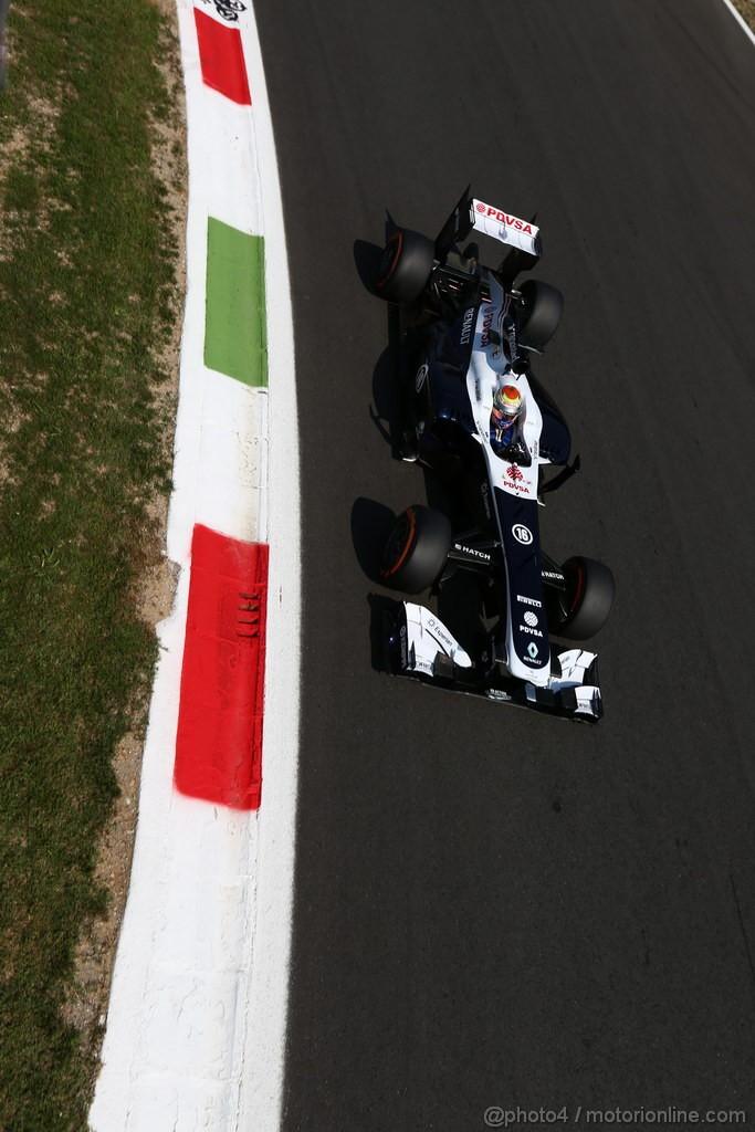 GP ITALIA, 06.09.2013- Free practice 2, Pastor Maldonado (VEN) Williams F1 Team FW35