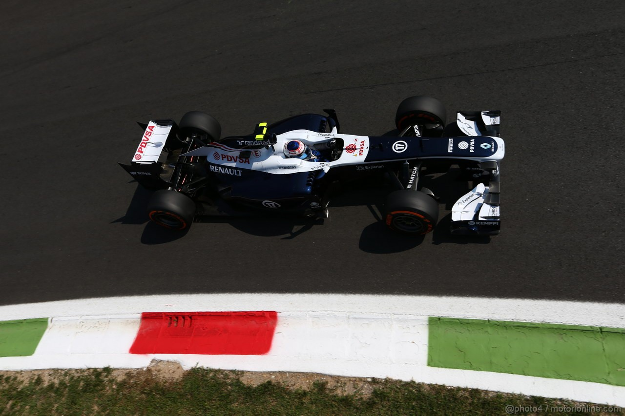 GP ITALIA, 06.09.2013- Free practice 2, Valtteri Bottas (FIN), Williams F1 Team FW35