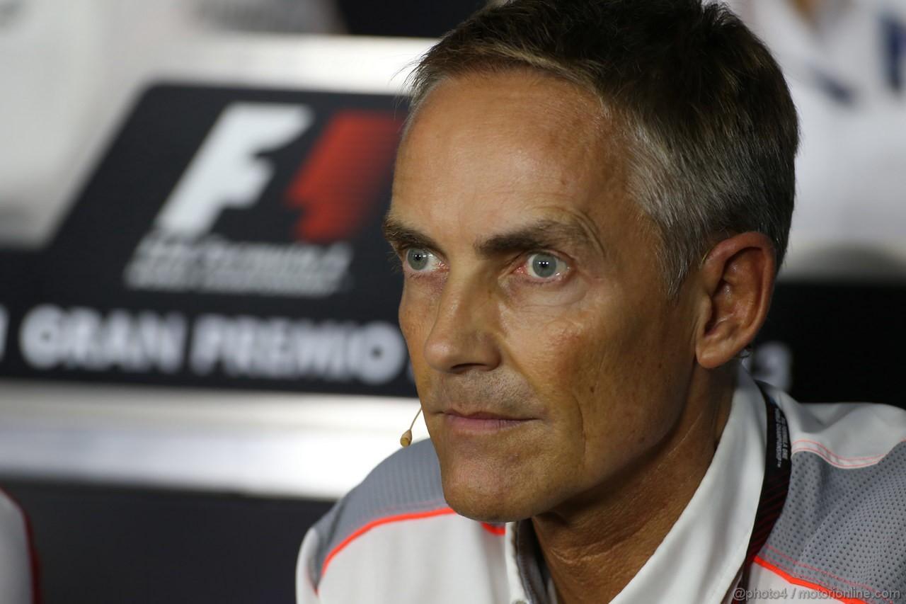 GP ITALIA, 06.09.2013- Venerdi' Press Conference, Martin Whitmarsh (GBR), McLaren, Chief Executive