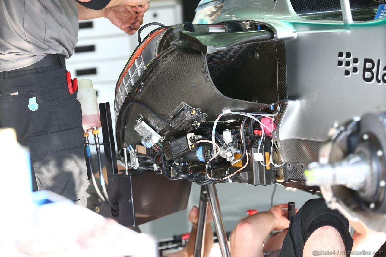 GP ITALIA, 06.09.2013- Mercedes Tech Detail