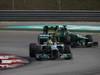 GP MALESIA, 24.03.2013- Gara, Nico Rosberg (GER) Mercedes AMG F1 W04 overtaking Charles Pic (FRA) Caterham F1 Team CT03