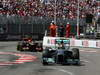 GP MONACO, 26.05.2013- Gara, Lewis Hamilton (GBR) Mercedes AMG F1 W04 davanti aKimi Raikkonen (FIN) Lotus F1 Team E21