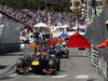 GP MONACO, 26.05.2013- Gara, Mark Webber (AUS) Red Bull Racing RB9 pass with the red flag