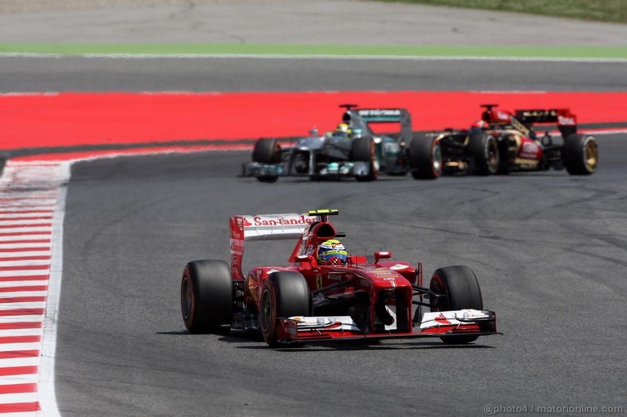 GP SPAGNA, 12.05.2013-  Gara, Felipe Massa (BRA) Ferrari F138