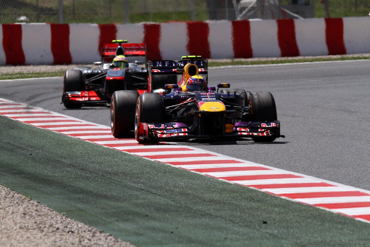 GP SPAGNA, 12.05.2013-  Gara, Mark Webber (AUS) Red Bull Racing RB9