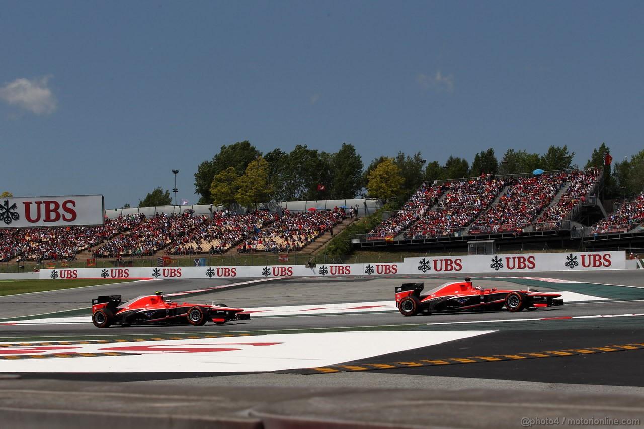 GP SPAGNA, 12.05.2013-Gara, Max Chilton (GBR), Marussia F1 Team MR02 e Jules Bianchi (FRA) Marussia F1 Team MR02