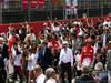 GP SPAGNA, 12.05.2013- Formula One Long Short Walk, Jean Todt (FRA), President FIA, Bernie Ecclestone (GBR), President e CEO of Formula One Management  e Fernando Alonso (ESP) Ferrari F138
