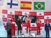 GP SPAGNA, 12.05.2013-  Gara, Fernando Alonso (ESP) Ferrari F138 vincitore, secondo Kimi Raikkonen (FIN) Lotus F1 Team E21 e terzo Felipe Massa (BRA) Ferrari F138 with Stefano Domenicali (ITA), Team Principal