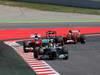 GP SPAGNA, 12.05.2013-  Gara, Nico Rosberg (GER) Mercedes AMG F1 W04 davanti a Fernando Alonso (ESP) Ferrari F138