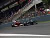 GP SPAGNA, 12.05.2013-  Gara, Lewis Hamilton (GBR) Mercedes AMG F1 W04 davanti a Felipe Massa (BRA) Ferrari F138