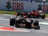 GP SPAGNA, 12.05.2013-  Gara,Kimi Raikkonen (FIN) Lotus F1 Team E21 davanti a Fernando Alonso (ESP) Ferrari F138