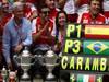 GP SPAGNA, 12.05.2013-  Gara, Festeggiamenti, Fernando Alonso (ESP) Ferrari F138 vincitore with his parents