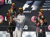 GP UNGHERIA, 28.07.2013- Podium: winner Lewis Hamilton (GBR) Mercedes AMG F1 W04, 2nd Kimi Raikkonen (FIN) Lotus F1 Team E21, 3rd Sebastian Vettel (GER) Red Bull Racing RB9