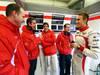 JEREZ TEST FEBBRAIO 2013, Luiz Razia (BRA) Marussia F1 Team e team mate Max Chilton (GBR) Marussia F1 Team with engineers. 08.02.2013.