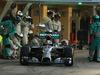GP ABU DHABI, 23.11.2014- Gara, Pit stop, Lewis Hamilton (GBR) Mercedes AMG F1 W05