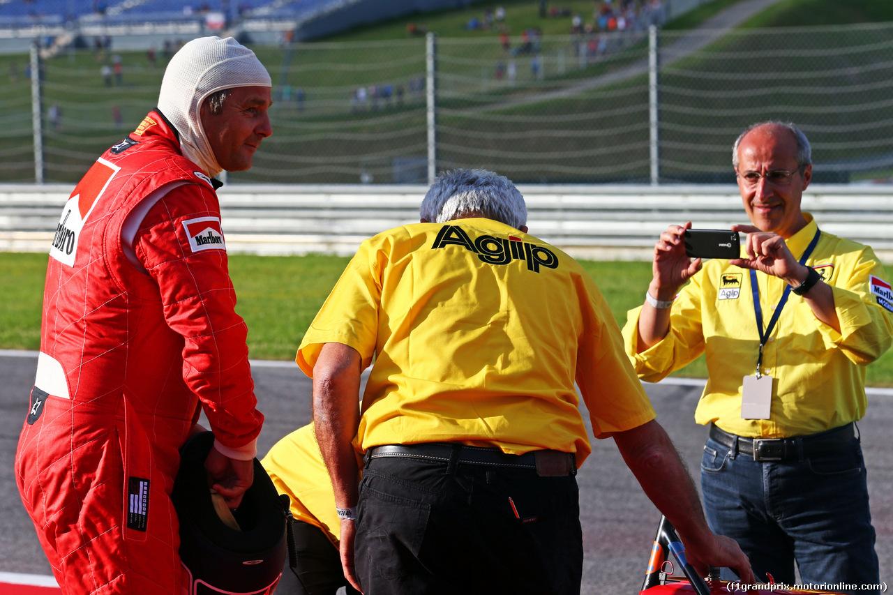 GP AUSTRIA, 21.06.2014- Gerhard Berger (AUT) is reunited with his Ferrari F1/87.