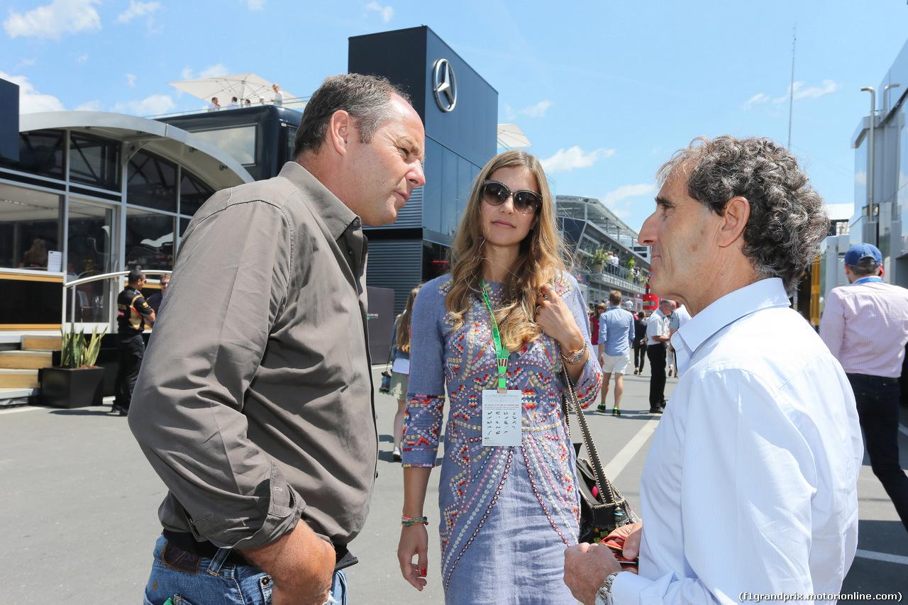 GP AUSTRIA, 22.06.2014- Geard Berger (AU) e Alain Prost (FRA)