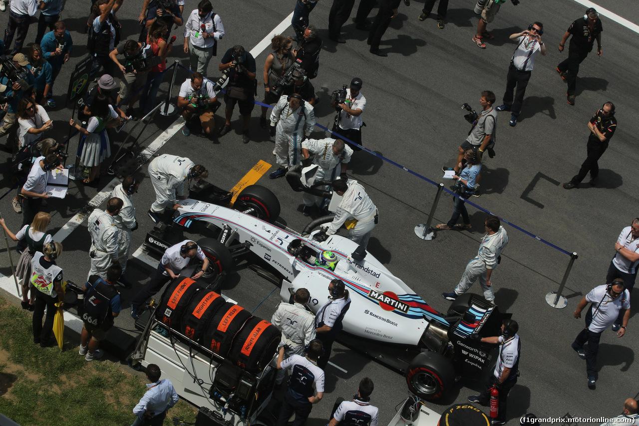 GP AUSTRIA, 22.06.2014- Gara, Felipe Massa (BRA) Williams F1 Team FW36