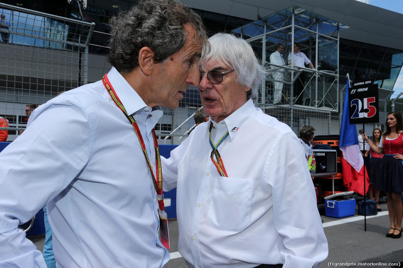 GP AUSTRIA, 22.06.2014- Gara, Alain Prost e Bernie Ecclestone (GBR), President e CEO of FOM