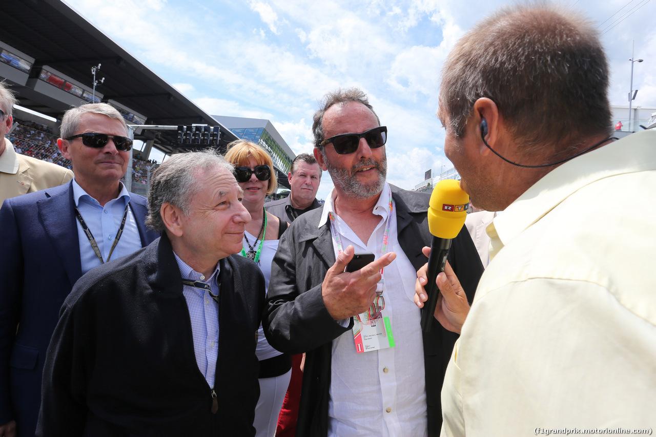 GP AUSTRIA, 22.06.2014- Gara, Jean Todt (FRA), President FIA e Jean Reno (FRA), Actor