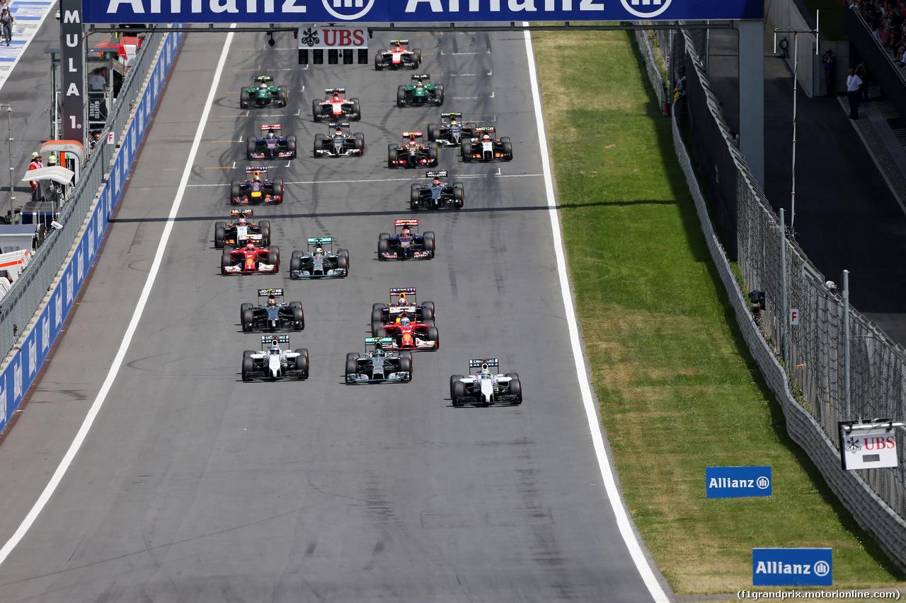 GP AUSTRIA, 22.06.2014- Gara, Start of the race
