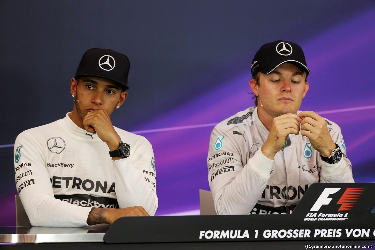 GP AUSTRIA, 22.06.2014- Gara, Conferenza Stampa, Lewis Hamilton (GBR) Mercedes AMG F1 W05 e Nico Rosberg (GER) Mercedes AMG F1 W05