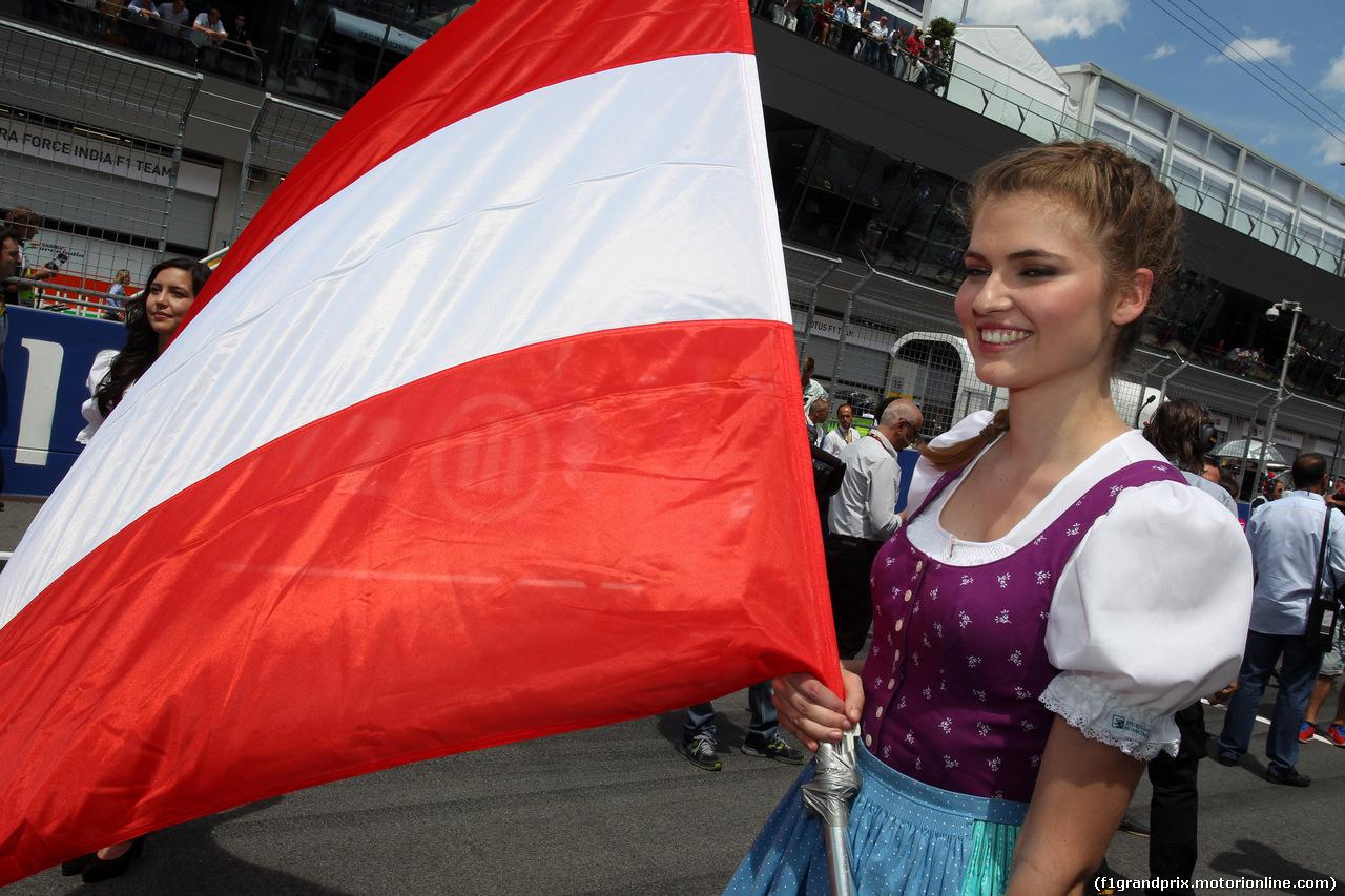 GP AUSTRIA, 22.06.2014- Gara, griglia Ragazza
