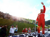 GP AUSTRIA, 21.06.2014- Gerhard Berger (AUT), reunited with his Ferrari F1/87, waves to the fans.