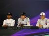 GP AUSTRIA, 22.06.2014- Gara, Conferenza Stampa, Lewis Hamilton (GBR) Mercedes AMG F1 W05, Nico Rosberg (GER) Mercedes AMG F1 W05 e Valtteri Bottas (FIN) Williams F1 Team FW36