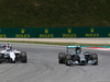 GP AUSTRIA, 22.06.2014- Gara, Nico Rosberg (GER) Mercedes AMG F1 W05 pass Valtteri Bottas (FIN) Williams F1 Team FW36