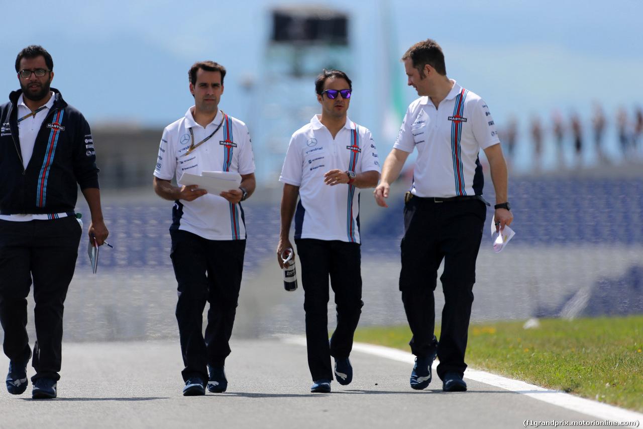 GP AUSTRIA, 19.06.2014- Felipe Massa (BRA) Williams F1 Team FW36